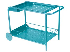 wheeled bar cart with removable tray