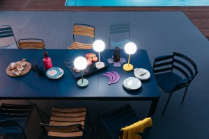 Fermob Ribambelle outdoor extending dining table