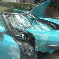 Captan momento exacto del choque del Koenigsegg, el auto deportivo accidentado en Reforma