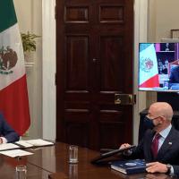 Reunión virtual entre AMLO y Biden