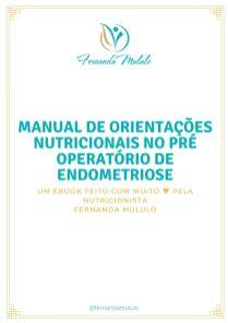 Ebook manual de orientações pré operatório de endometriose