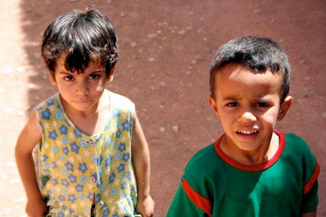 Enfants berbères - Sahara marocain