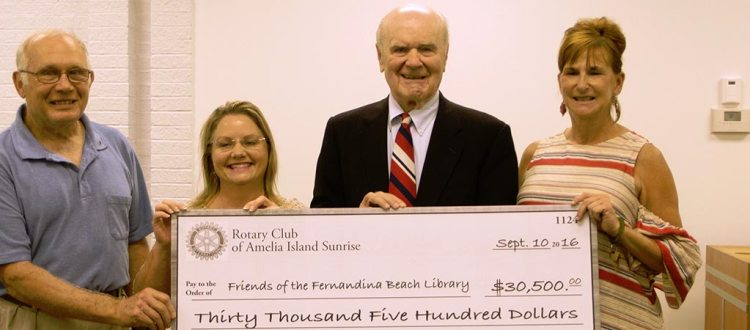 Rotary Club of Amelia Sunrise Donation