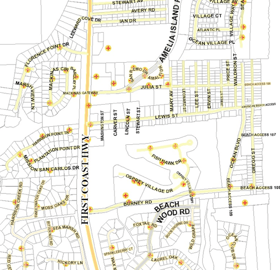Tree fire at American Beach: Updated info June 17, 2019 » Map Of Fire Hydrants on