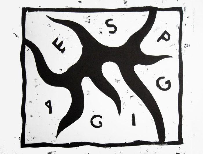 ESPORA GIGANTE 2007 xilografia, papel, 40 x 30 cms