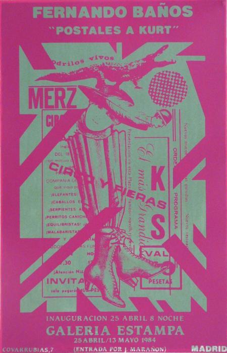 CART.EXP. KURT SW 1984, serigrafia, papel, 32x50 cms. (1)