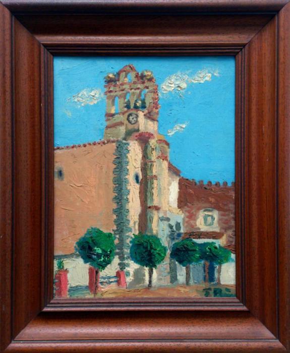 LA ESPADA_A 1967, oleo, tabla, 30 x 40 cms.