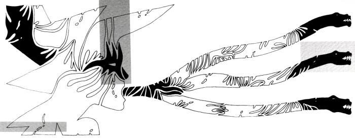 PALABRAS QUE HIEREN, 2010, (6), serigrafia, papel, mancha 40 x 20 cms