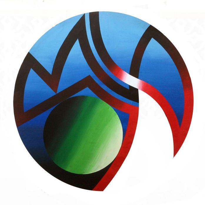 ATLANTIDA 2015, acrilico, lienzo, 200 cms. diametro