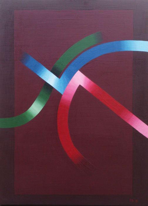 EL DESOBE DEL SALMON 2015, acrilico, DM,122 x 95 cms.