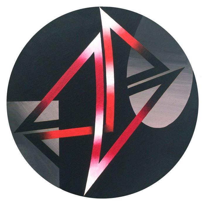 ESPECTRO 1, 2014, acrilico, lienzo, 50 cms. diametro.