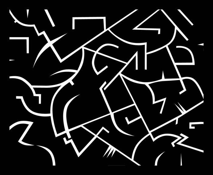 FISURA 1, 2018, acrilico, lienzo, 40 x 30 cms.