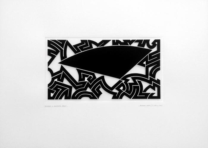HOMENAJE A ELLSWORT KELLY 2016 GOUACHE RECORTADO PAPEL 50 x 35 CMS.