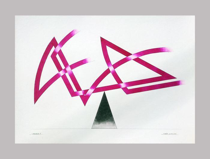 INESTABILE III b, 2014, acuarela, papel, 70 x 50 cms.