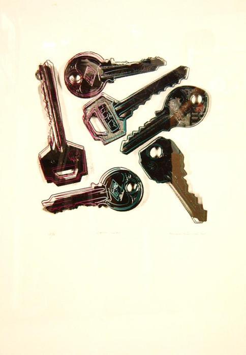 LLAVES PAPEL 10 1991, serigrafia, papel, 70 x 100 cms.