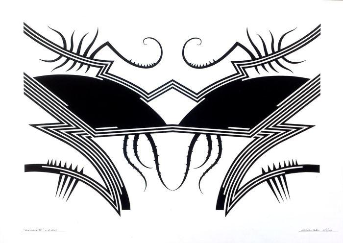 RORSCHACH IV, gouache papel 70 x 50 cms