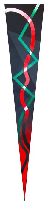 SERIE LACERIAS - GAZA 2014, acrilico tela 60 x 300 cms
