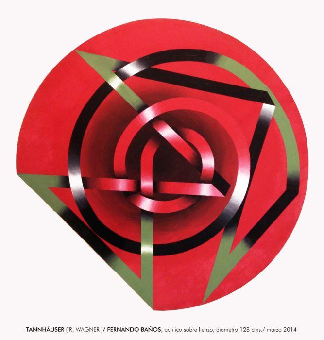 SERIE LACERIAS - TANNH_USER 2014, acrilico, lienzo, 128 cms. diametro