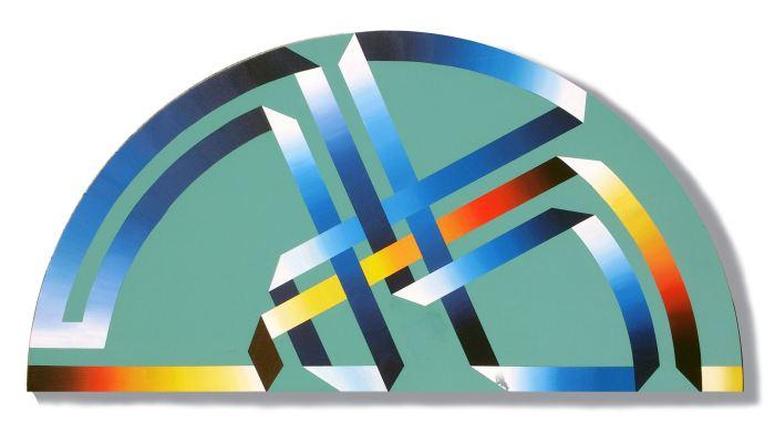 SERIE SOBRE EL COLOR- MEDIO PUNTO 2014, acrilico, DM, 100 x 50 cms.