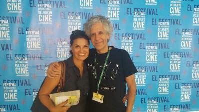 Con la gran actriz cubana Mirtha Ibarra