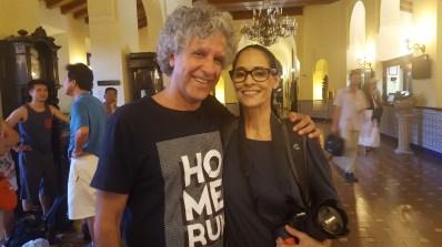 Con la gran actriz brasileña Sonia Braga