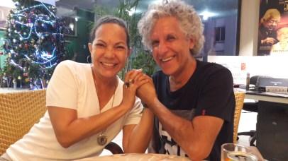 Con la gran actriz cubana Luisa María Jiménez