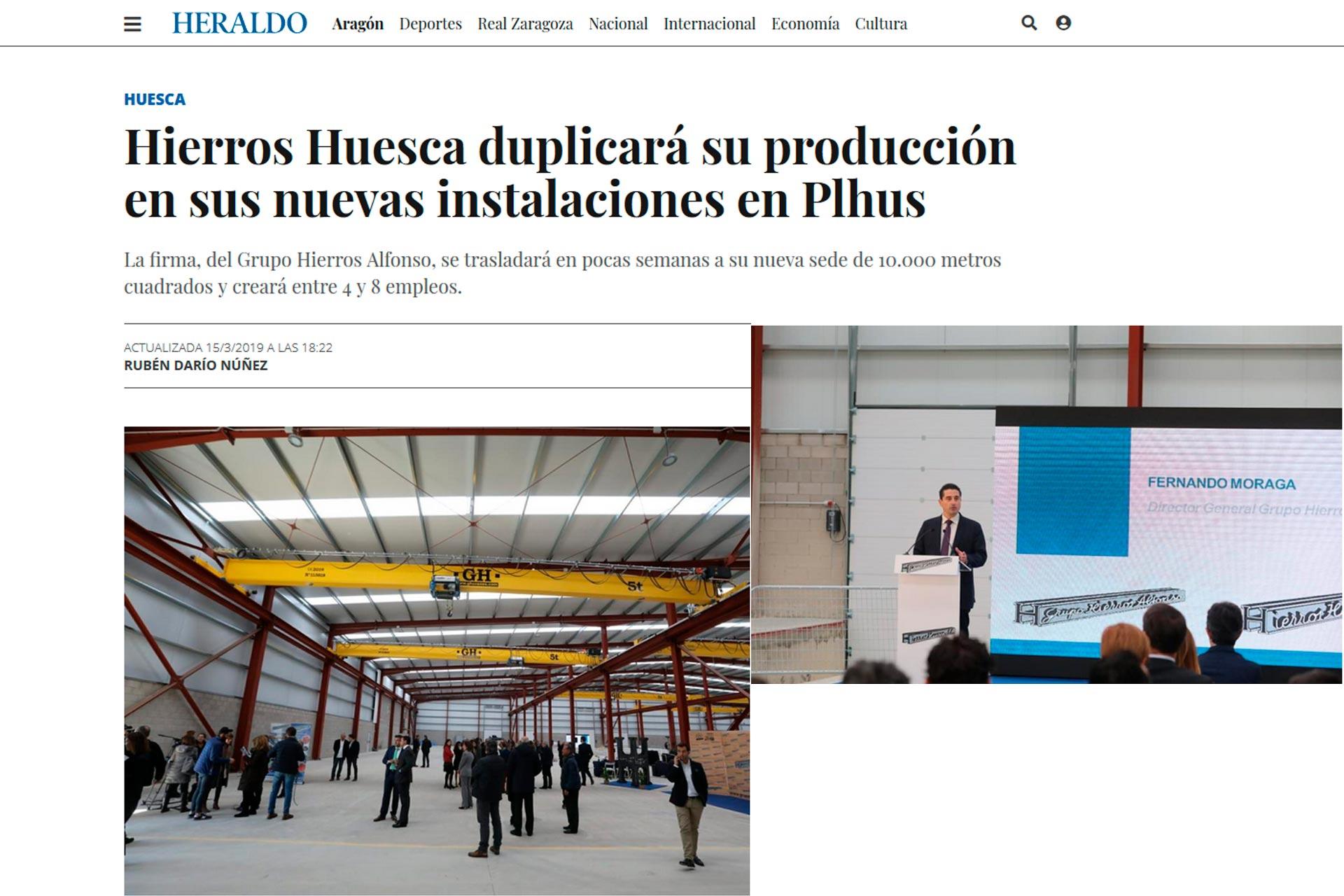 Fernando Moraga Heraldo.es Hierros Huesca