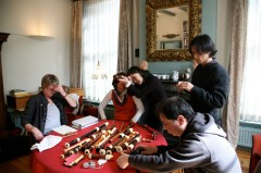 J. Saunders, Monika Musch, Yukiko Yaita, (?) & Fumitaka Saito