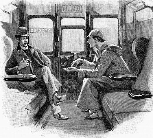 Watson y Holmes Ilustración de Sidney Paget