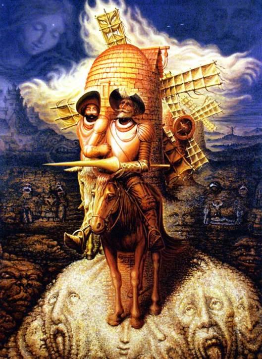 """""""Visiones del Quijote"""" de Octavio Ocampo."""
