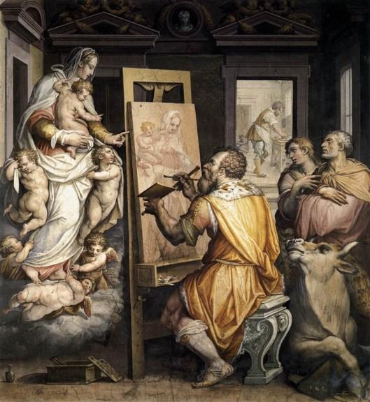 San Lucas pintando la aparición de la virgen de Georges Vasari