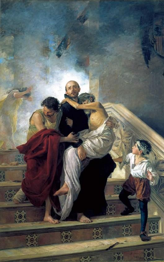 San Juan de Dios salvando a los enfermos