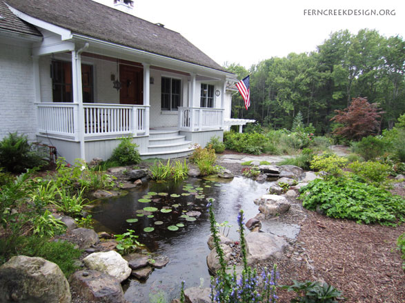 Backyard Ponds and Waterfalls - Natural Landscaping ... on Front Yard Pond  id=15074