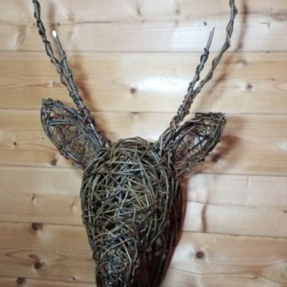 Willow Sculpture - Stag's-head
