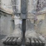 Füße so groß wie ein Bein vom Buddha im Wat Saphan Hin