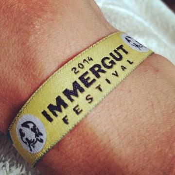 Bändchen vom Immergut Festival 2014