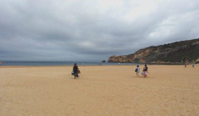 Strand von Nazaré, Westküste Portugal