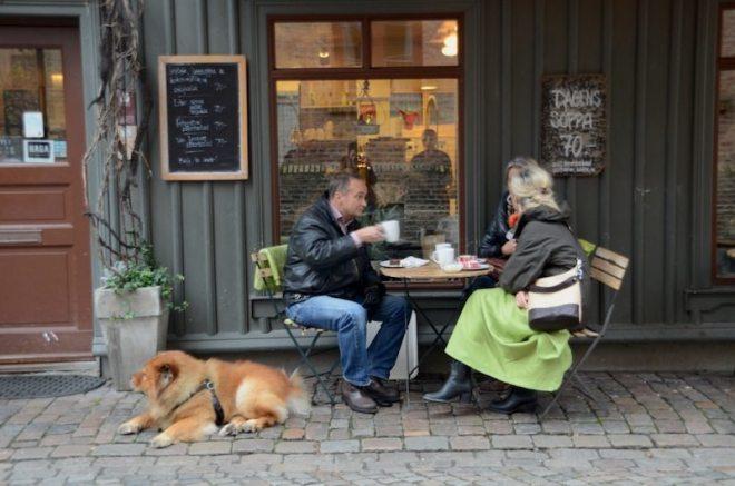 Gemütliche Cafés in Haga an jeder Ecke, Göteborg