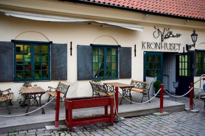 Erste fika in Göteborg im Kronhuset