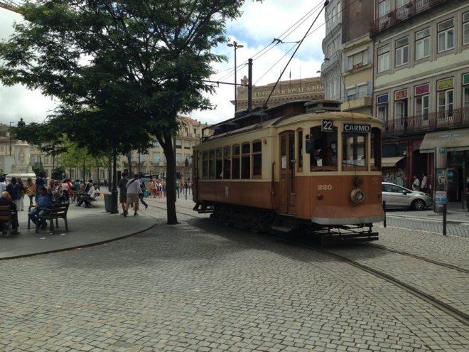Straßenbahn in Porto, Portugal