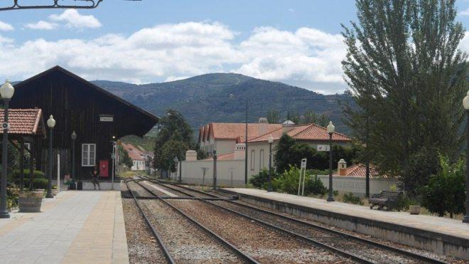 Bahnhof in Pinhão - Douro-Tal, Portugal