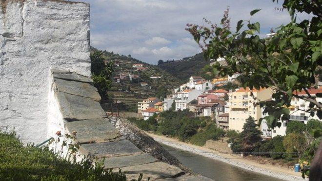 Am Eingang der Quinta da Foz in Pinhao, mitten im Douro-Tal in Portugal