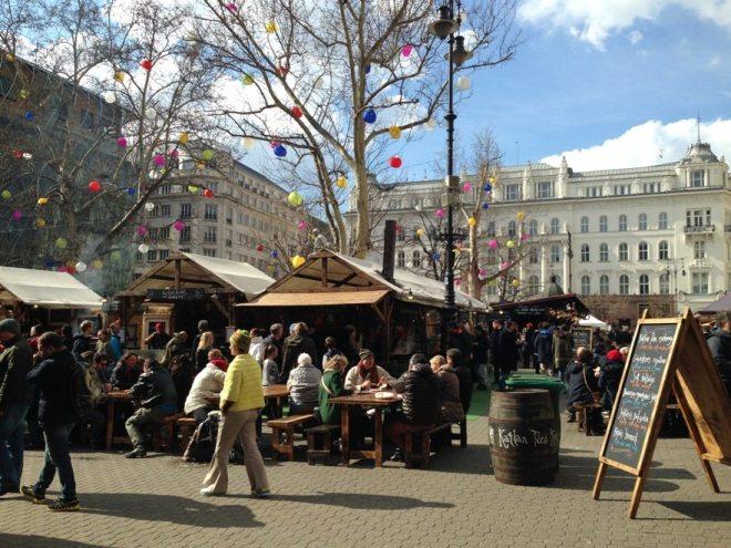 Markt am Férenc Tér im Budapester Teil Pest