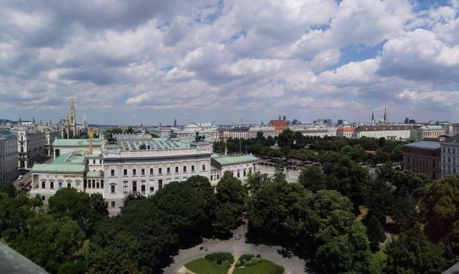 Geheimtipp für Wien: Ausblick vom Justizpalast
