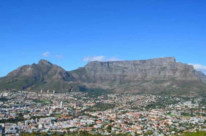 Der Tafelberg in Kapstadt, Südafrika-Highlight