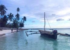 Sansibar Reisebericht - Strand von Michamvi Kae bei Flut