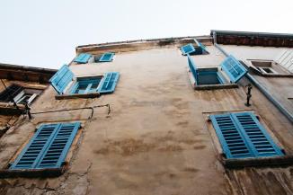 Häuser in der Altstadt von Rovinj