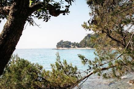 Strand in der Nähe von Rovinj