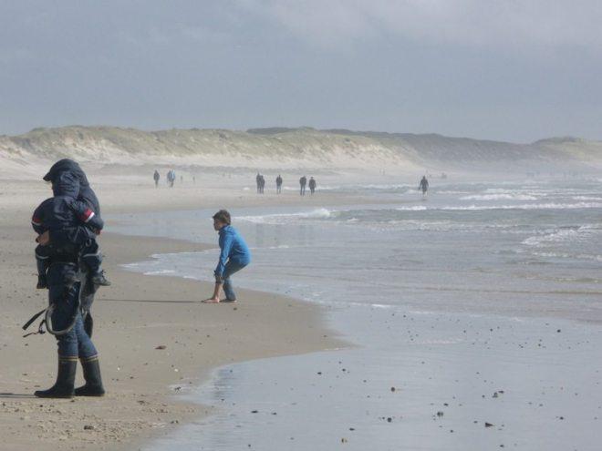 Windige Nordsee Dänemark bei Hvide Sande