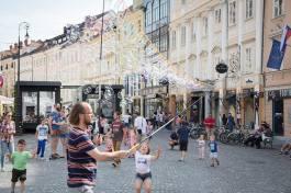 Die schöne Altstadt von Ljubljana